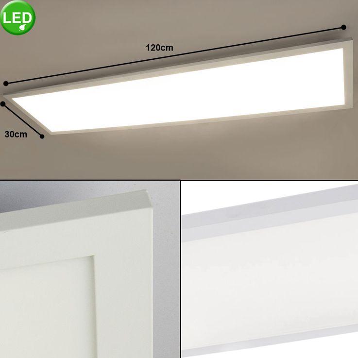 Plafond LED A Structure Panneau Salon Éclairage de salle de séjour Lampe ALU Blanc Longueur 120 cm  Globo 41604D5 – Bild 2