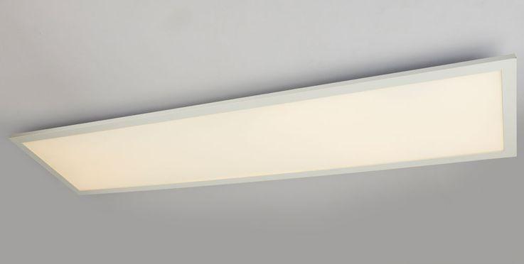 Plafond LED A Structure Panneau Salon Éclairage de salle de séjour Lampe ALU Blanc Longueur 120 cm  Globo 41604D5 – Bild 5