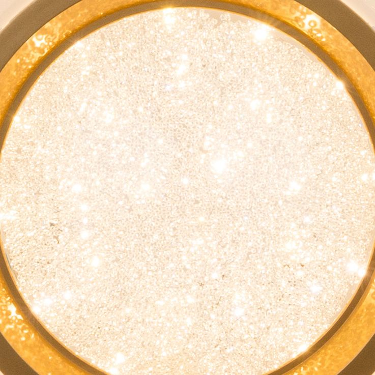 LED ceiling spotlights glitter lamp residential sleep room stars effect lamp gold white  Globo 41742-24 – Bild 7