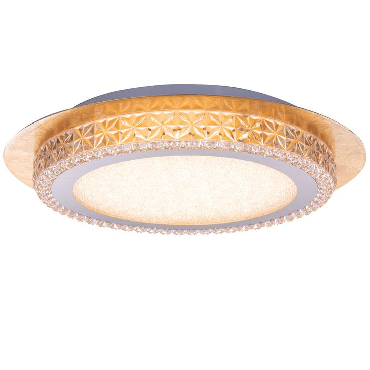LED Ceiling Lamp Living Dining Room Stars Sky Effect Crystal Leaf-Gold Light  Globo 41912-18G – Bild 1