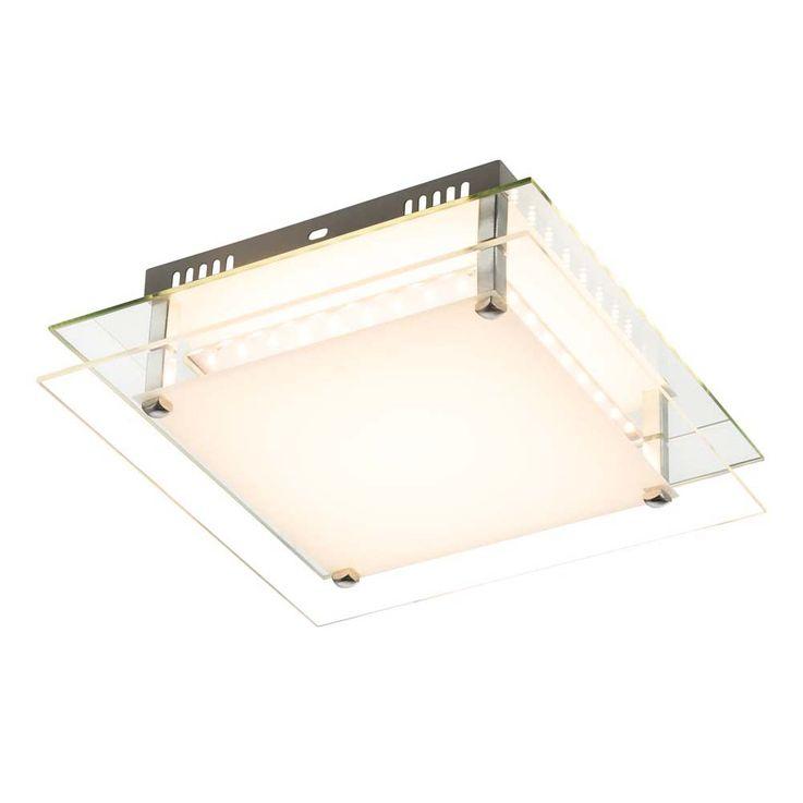 Led deckenleuchte euron quadratisch 1x led 18w inkl for Lampen quadratisch