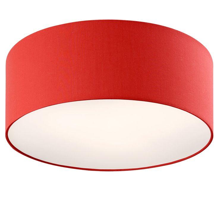 Ceiling light red Chintz textile lamp living room lighting spotlights round  Esto 43022 – Bild 1