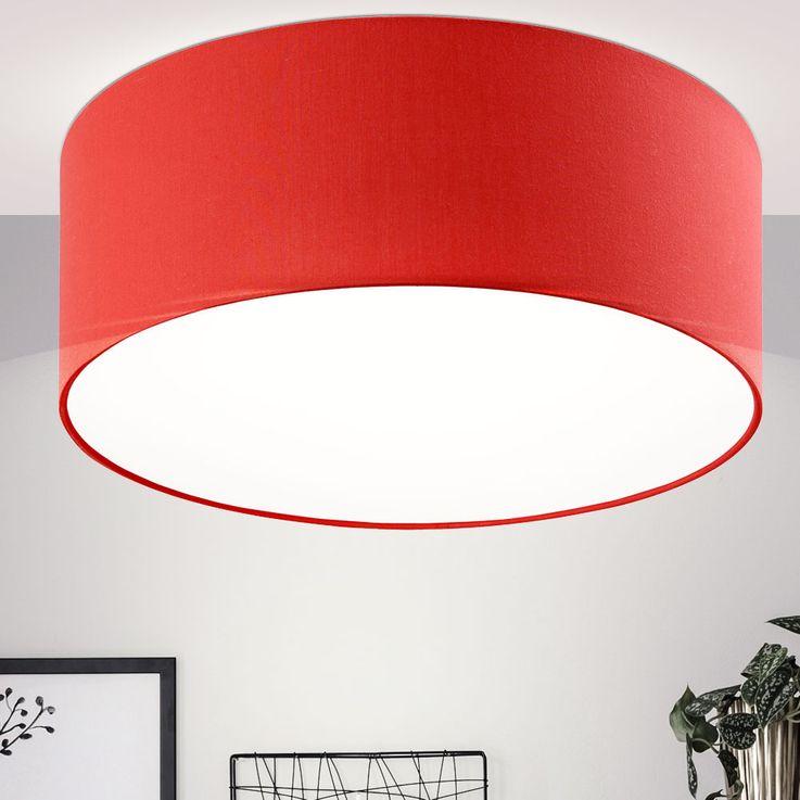 Ceiling light red Chintz textile lamp living room lighting spotlights round  Esto 43022 – Bild 3