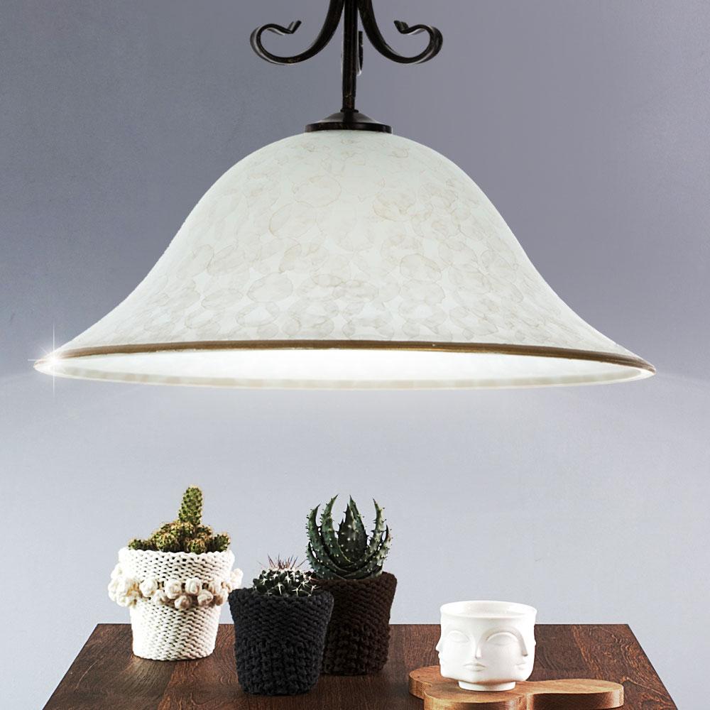 Glas h ngeleuchte schwarz h he 150 cm nizza lampen for Lampen 150 cm