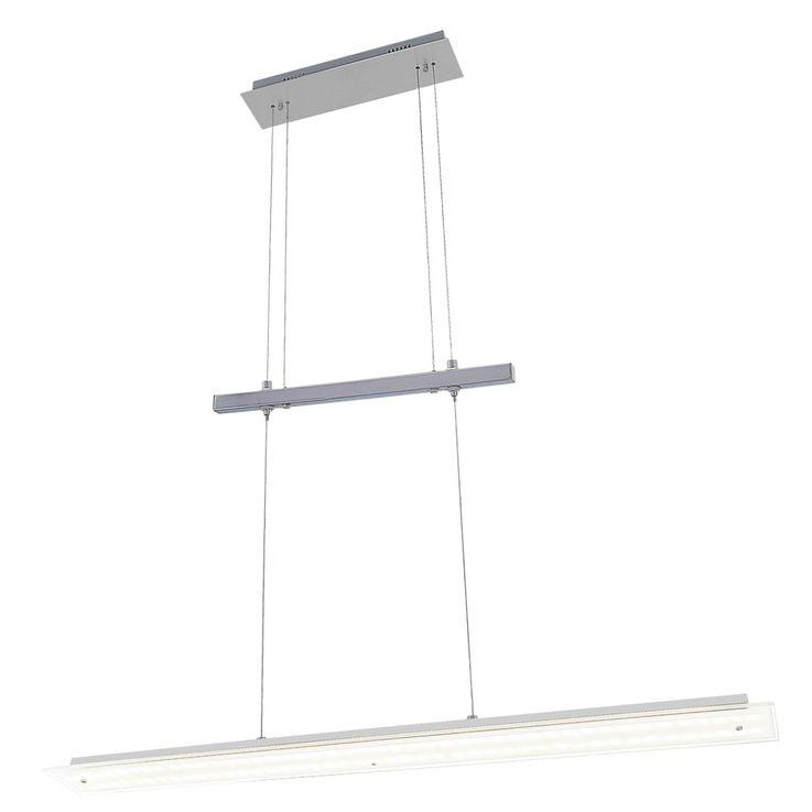 LED Hänge Lampe Decken Leuchte Ess Zimmer Tisch Beleuchtung silber Höhe verstellbar Esto 710062 – Bild 1
