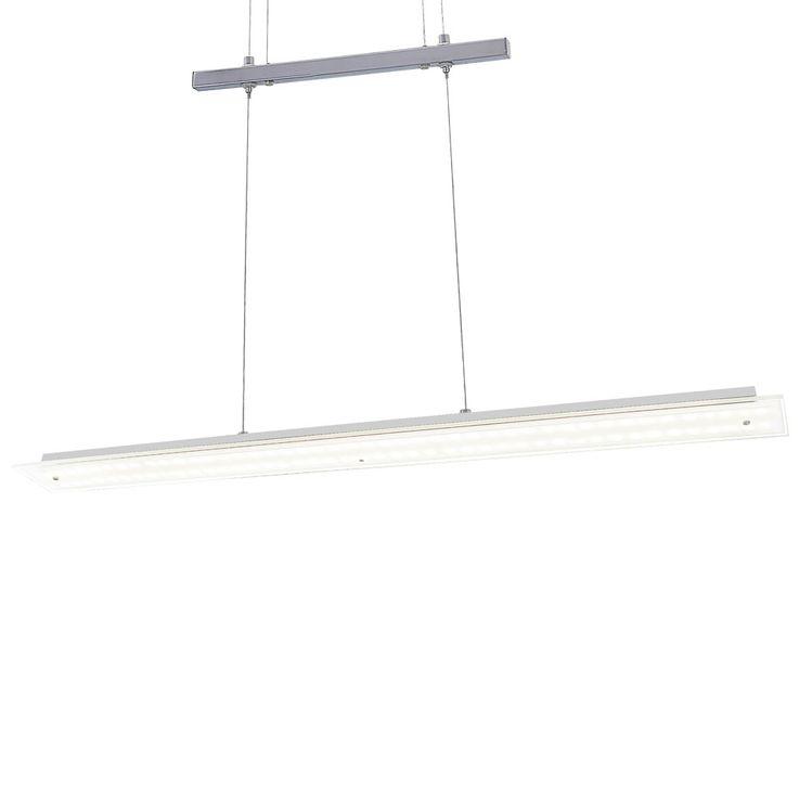 LED Hänge Lampe Decken Leuchte Ess Zimmer Tisch Beleuchtung silber Höhe verstellbar Esto 710062 – Bild 9
