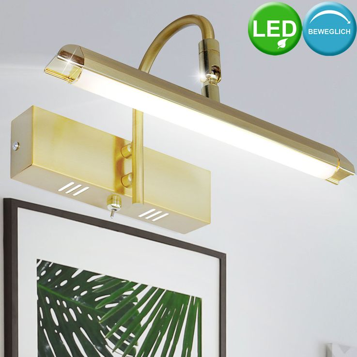 LED wall lamp mirror spotlight brass living room pictures lamp adjustable  Esto 745004 – Bild 2