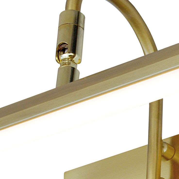LED wall lamp mirror spotlight brass living room pictures lamp adjustable  Esto 745004 – Bild 4