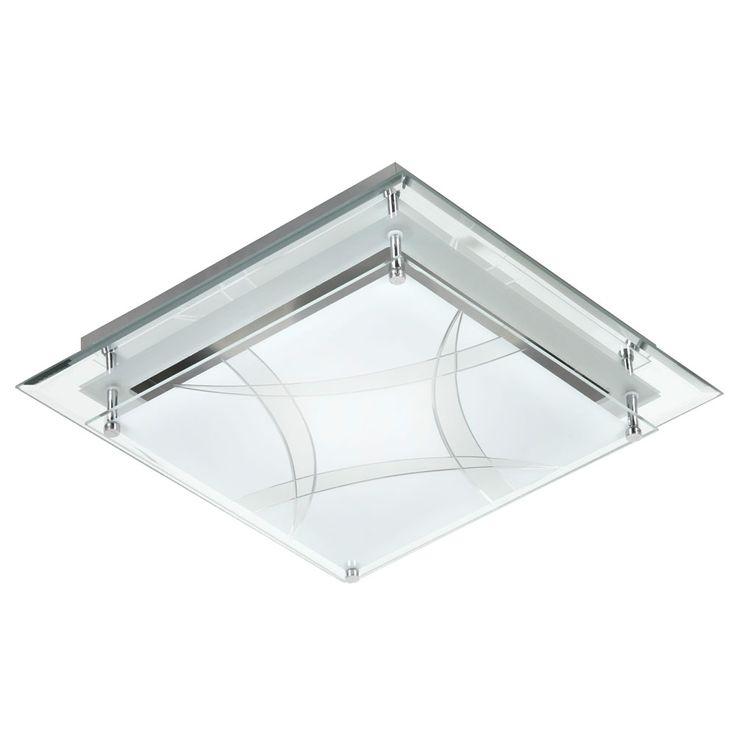 LED ceiling lamp sleep guests room glass lighting pattern fixture silver  Esto 748053 – Bild 1