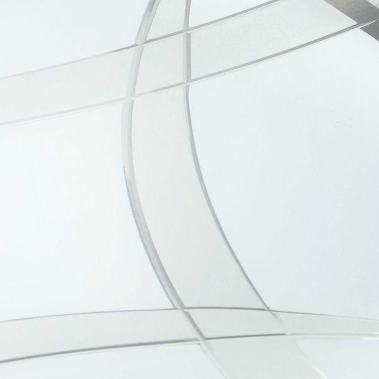 LED ceiling lamp sleep guests room glass lighting pattern fixture silver  Esto 748053 – Bild 3