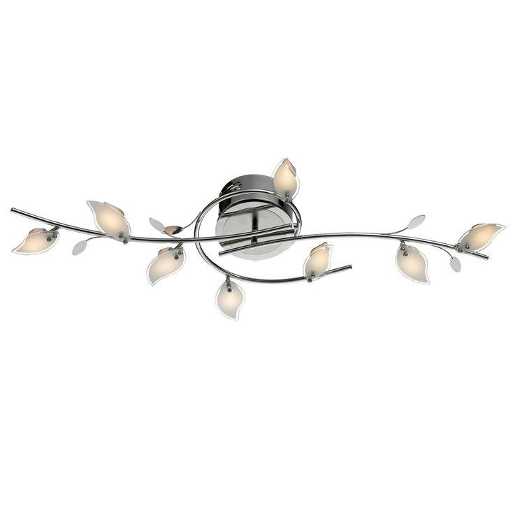 Plafonnier LED en verre laisse lampe de verre design chrome  Esto 770000-8 – Bild 1