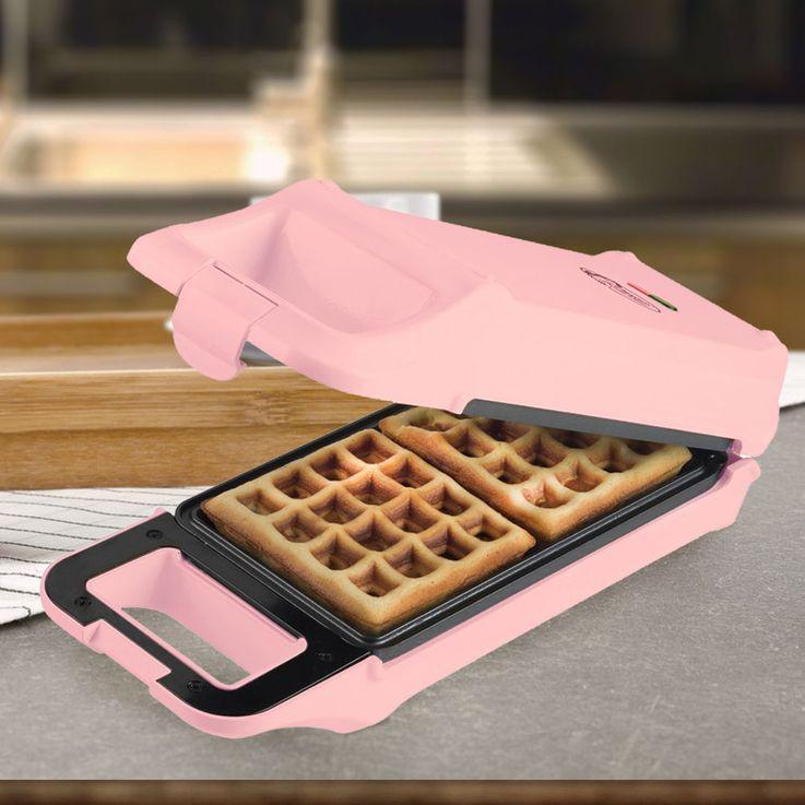 Belgian Waffle Maker Brussel Kitchen Appliance Flipover Oven Non Stick Coating Pink Bestron AWF2007R – Bild 2