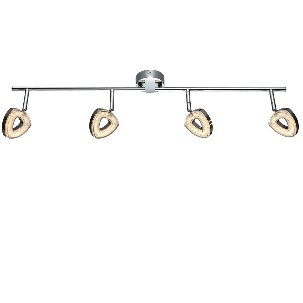 Led Crystal Ceiling Lamp With Moving Spots Fabian