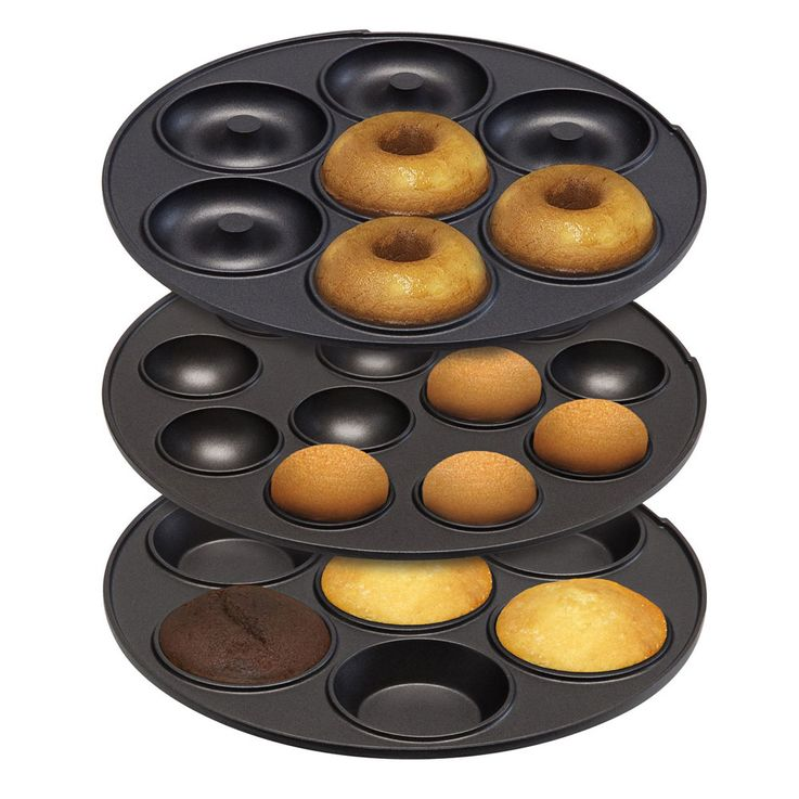 3 in 1 Cake Pop Maker Mini Donuts Muffin Back Automat mint grün Antihaft beschichtet Bestron ASW238 – Bild 3