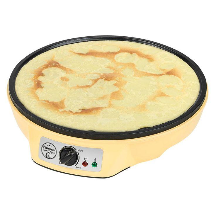 1000W Crepe Maker Anti-stick Plate Pancake Pan Device Creperie Vanilla Bestron ASW602 – Bild 3