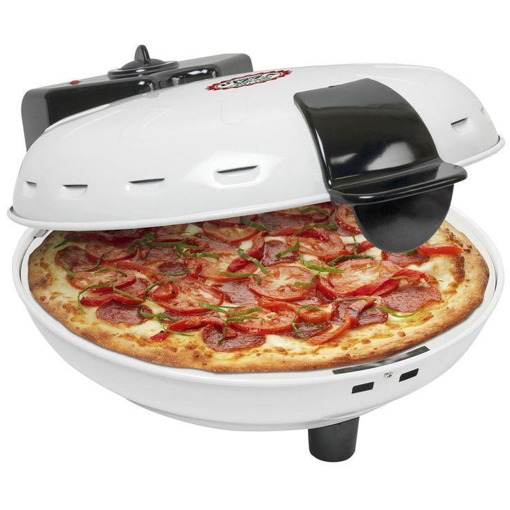 Tisch Stein Back Ofen Pizza Maker Party Küchen Automat rund Ober Unter Hitze Bestron DLD9036 – Bild 4