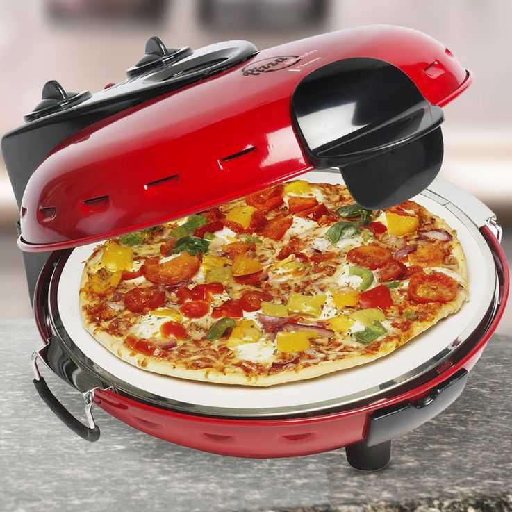 Stone Table Baking Oven Pizza Maker Household Automatic Machine Upper Under Heat Temperature  Bestron DLD9070 – Bild 2