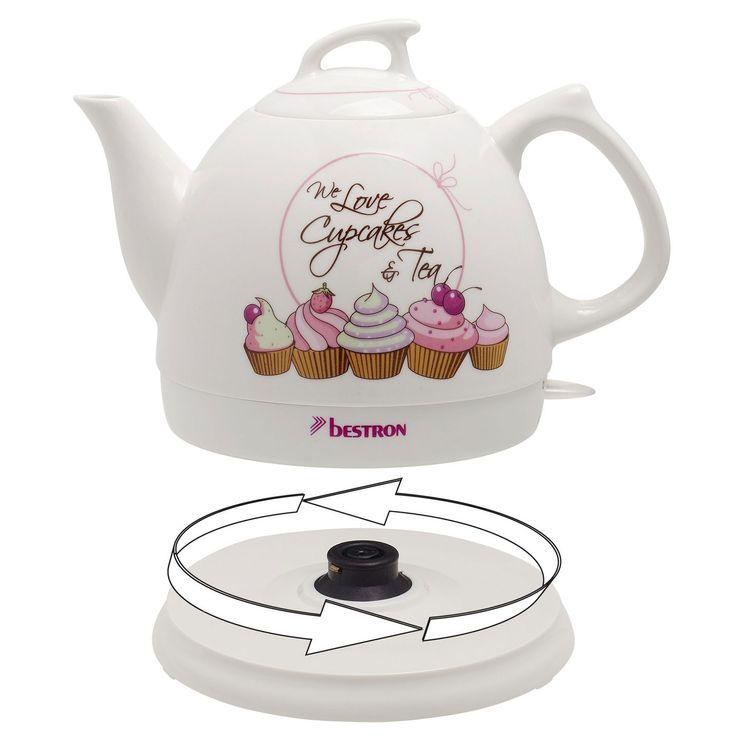 Water cooker ceramic tea pot 0.8 liter household rotatable cordless 1800 watts – Bild 3