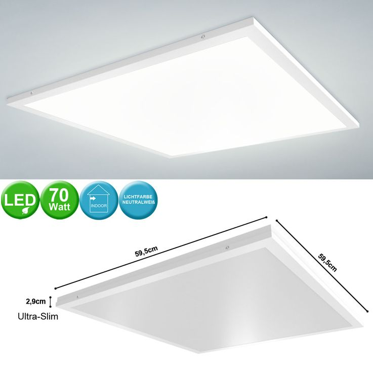 70 watt LED surface mounted panel ceiling recessed luminaire office working room 4000 K lighting v  -tac6453 – Bild 2