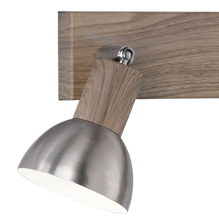 Wall spotlight lamp silver brown living working room spot luminaire adjustable  Honsel  Leuchten 23343 – Bild 4