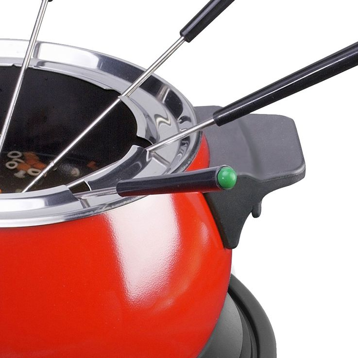 Fondue Pot Fork Cheese Meat Chocolate Roast Party 8 Persons 1500 Watt red  Bestron DFD20R – Bild 4