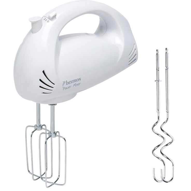 150W Hand Mixer Household 5 Stages Stirring Device Kneading Hooks Stainless Steel Baking  Bestron AHM2003 – Bild 1