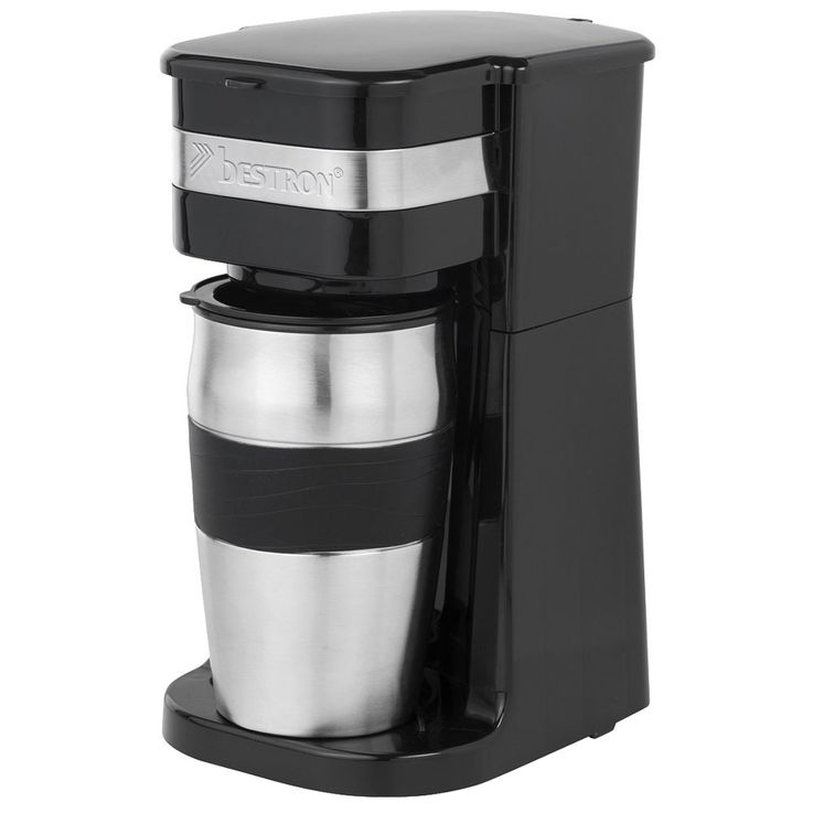 Coffee Machine 2 cups 420 ml Brew Automat Stainless Steel Mug Duration Filter  Bestron ACM111Z – Bild 6
