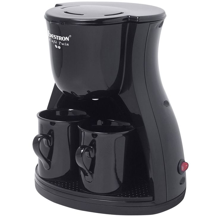 Coffee machine, black, 1  -2 cups, permanent filter – Bild 1