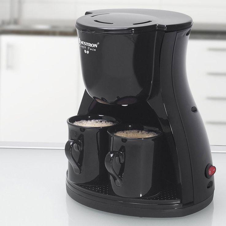 Cafetière noire, 1  -2 tasses, filtre permanent – Bild 2