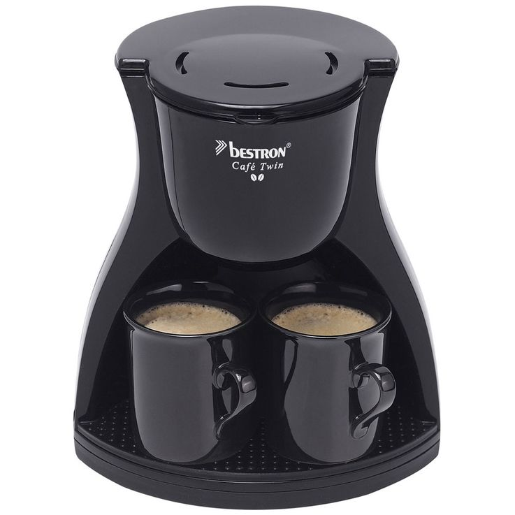 Coffee machine, black, 1  -2 cups, permanent filter – Bild 3