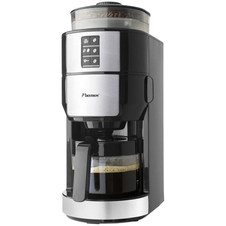 Beans powder coffee machines grinder duration filter glass jug hot plate  Bestron ACM1100G – Bild 7
