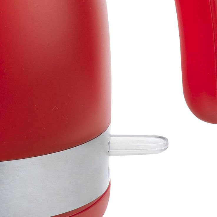 Wasserkocher in rot mit Edelstahllapplikationen – Bild 6
