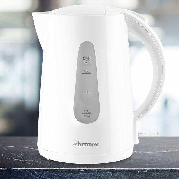 2200 Watt Wasserkocher, kabellos, weiß – Bild 2