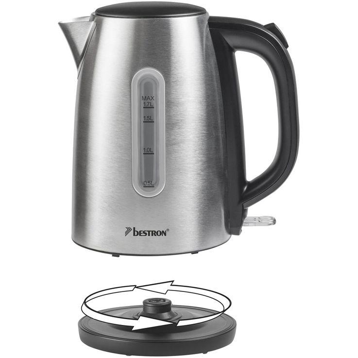 2200W Stainless Steel Water Tea Cooker Silver Kitchen Heater Wireless Lime Filter  Bestron AWK1800 – Bild 4