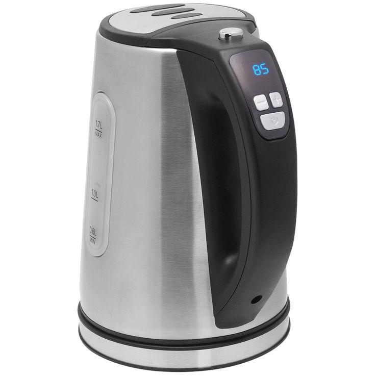 Water Cooker 1.7L Stainless Steel LED Temperature Adjustable Heater Wireless 2200W  Bestron DDK2200 – Bild 1