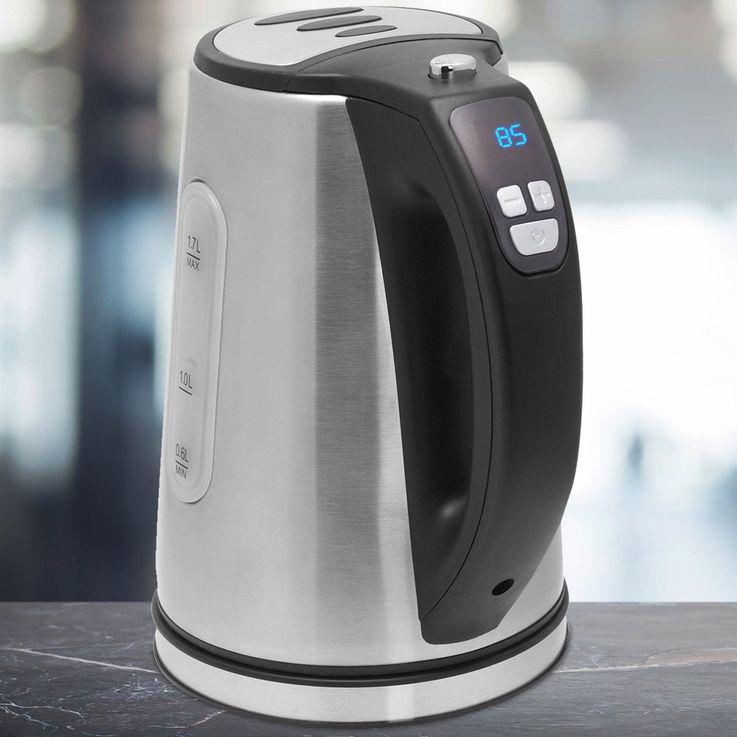 Wasser Kocher 1,7 l Edelstahl LED Temperatur einstellbar Erhitzer Kabellos 2200W Bestron DDK2200 – Bild 2