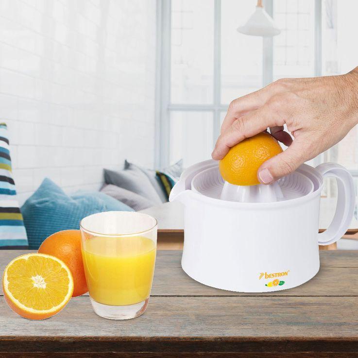 Citrus Oranges Lemon Juice Press Juicer 500ml Container Detachable Right  Left  Run Bestron AKL300 – Bild 2
