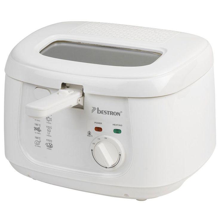 1800 watt deep fryer 2.5 liter non-stick container frying kitchen appliance white  Bestron ADF4000W – Bild 4