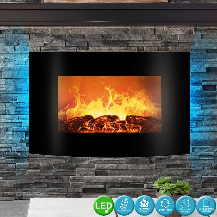 LED electric wall glass chimney flames display ambience light REMOTE CONTROL EK 6021 CB – Bild 2