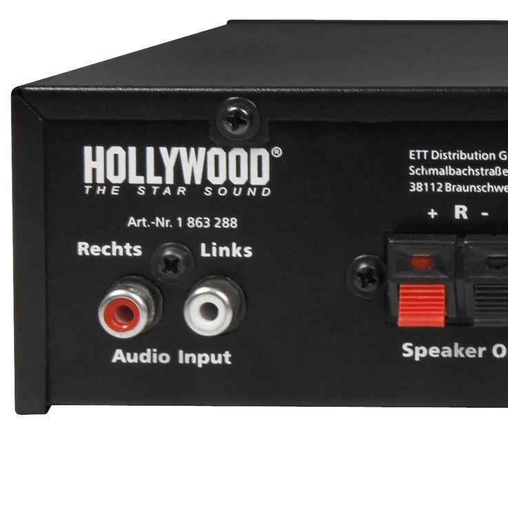 100 Watt DJ PA Compact Amplifier Party Music  -Equipment Amplifier AUX System Hollywood Mini 100 – Bild 4