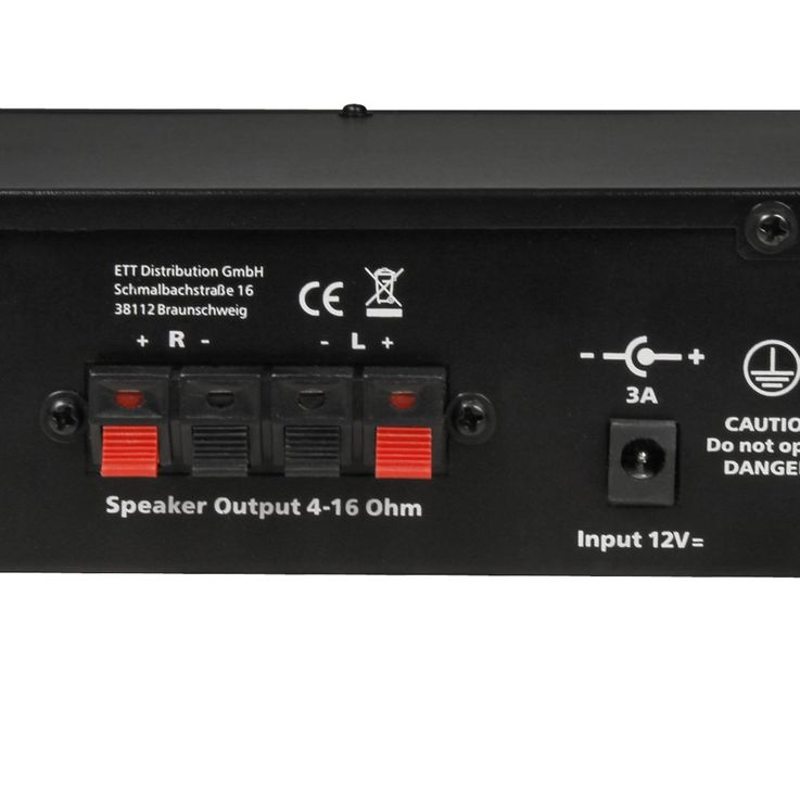 100 watts DJ PA Amplificateur compact Party Music  -Equipement Amplificateur Système AUX Hollywood Mini 100 – Bild 5