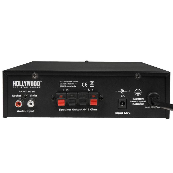 DJ PA Karaoke Compact Music Amplifier Party HiFi Amplifier AUX Micro Bluetooth  Hollywood Mini 200 – Bild 7