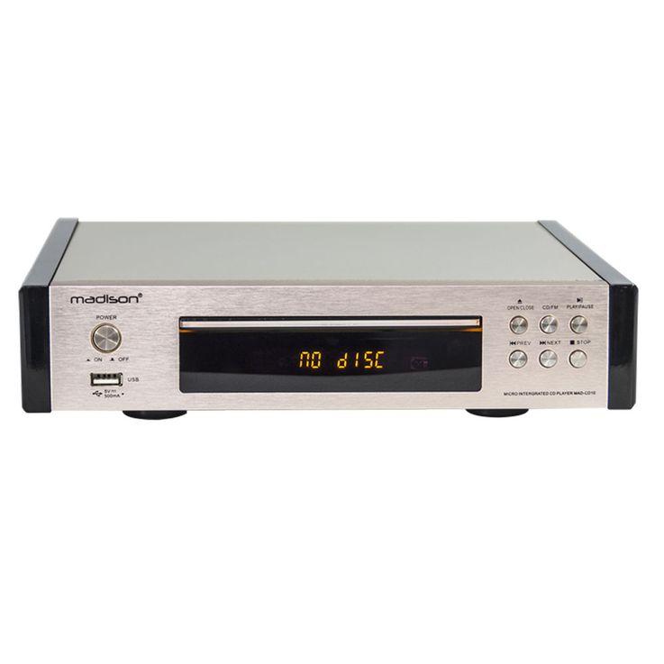 Vintage CD-Player Fernbedienung ALU gebürstet Display FM-Tuner USB MP3 WJG 2001015 – Bild 1