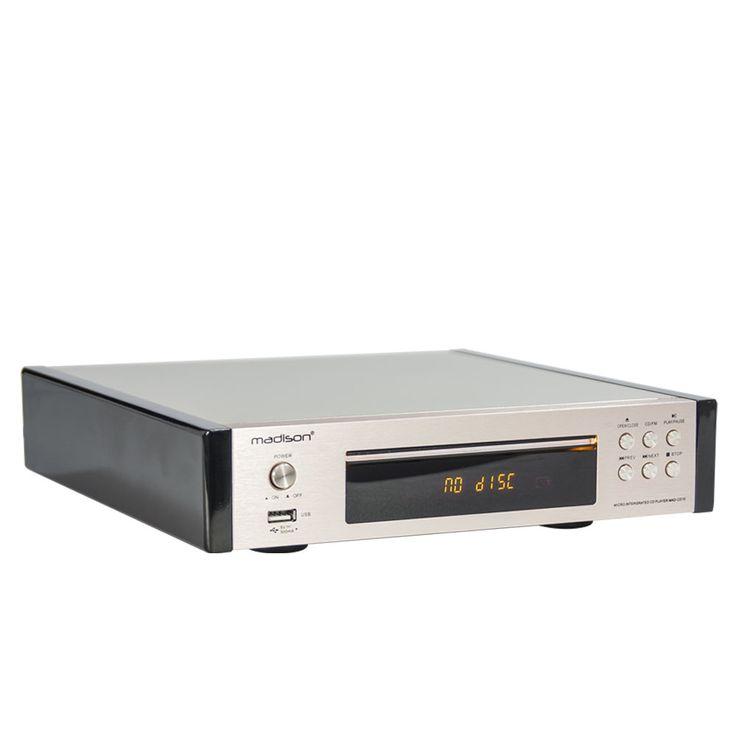 Vintage CD-Player Fernbedienung ALU gebürstet Display FM-Tuner USB MP3 WJG 2001015 – Bild 3