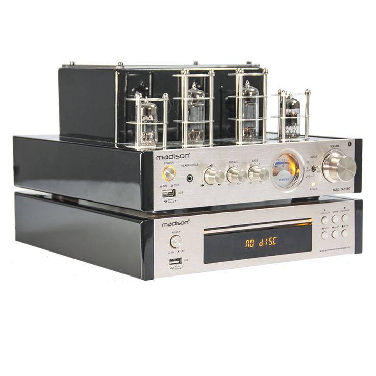 Vintage CD-Player Fernbedienung ALU gebürstet Display FM-Tuner USB MP3 WJG 2001015 – Bild 4