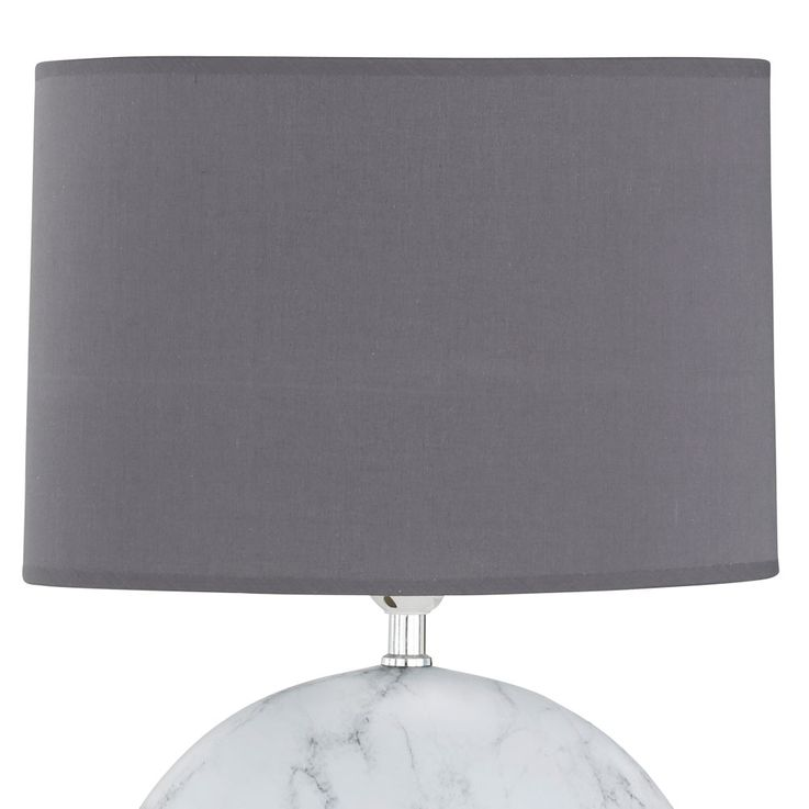 Texti table lamp marble colored living working room ceramic light gray  Honsel  Leuchten 51284 – Bild 6