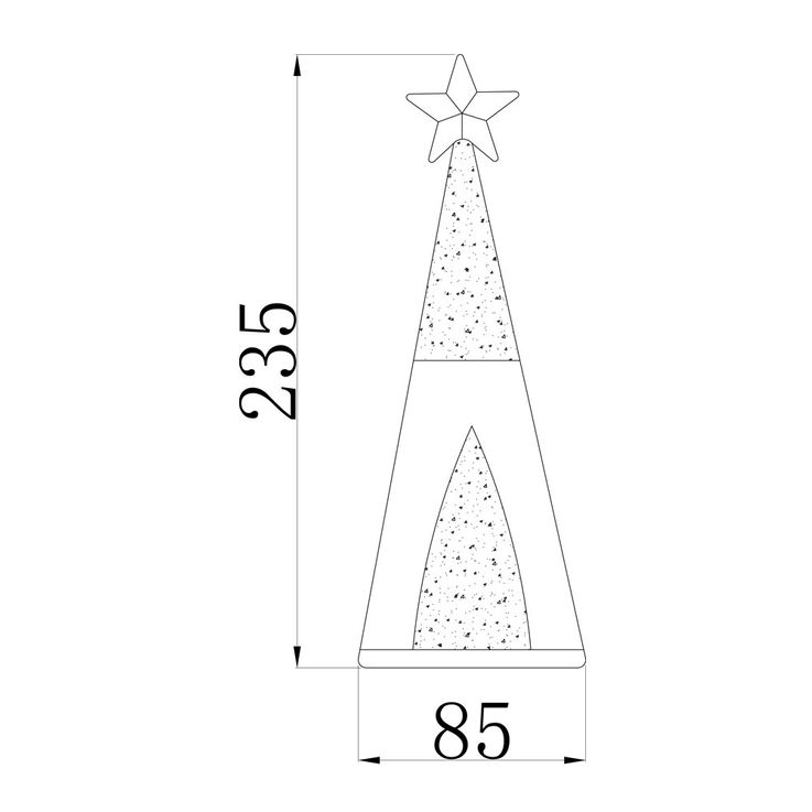 Set of 2 LED glass cones, tree with artificial snow and glitter effect – Bild 6