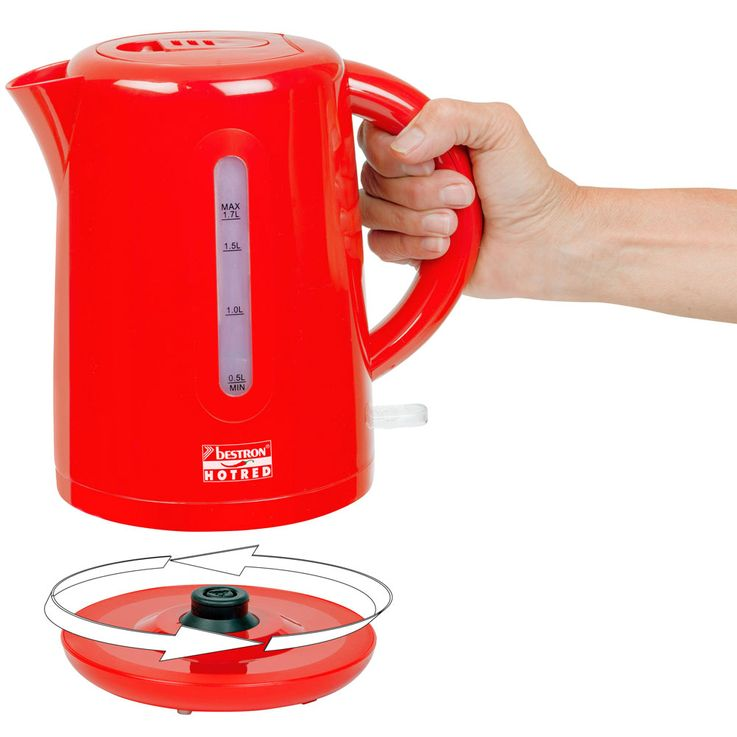 3eer breakfast set of 2  slices toaster filter coffee machine kettle heater wireless red – Bild 6