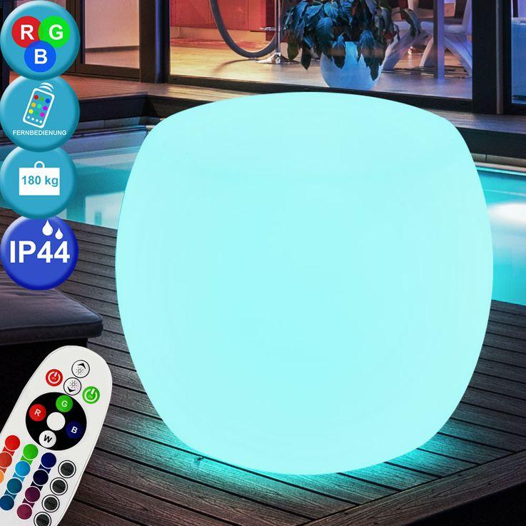 RGB LED Außenlampe, Kugelform, DIMMBAR, max. 180 kg, NIDO – Bild 2