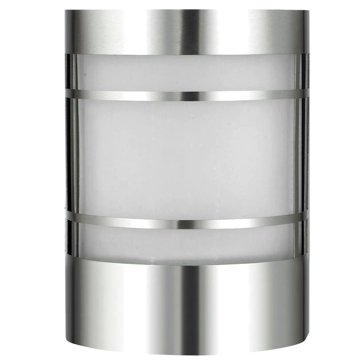 Outdoor wall light patio spotlight porch stainless steel glass lighting silver  Harms 103100 – Bild 1